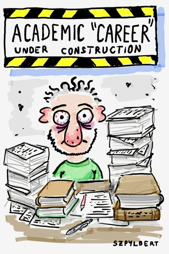 Szpylbert cartoon about academic careers