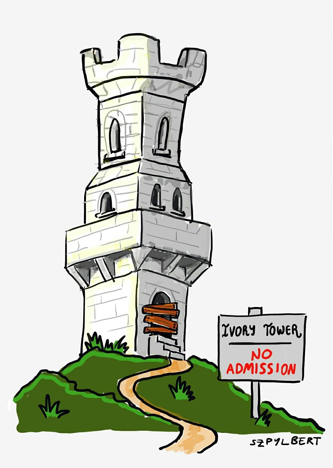 Szpylbert cartoon about trying to get a job as an academic