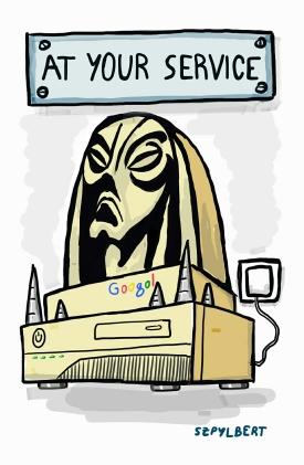 Szpylbert cartoon about modern Morlocks
