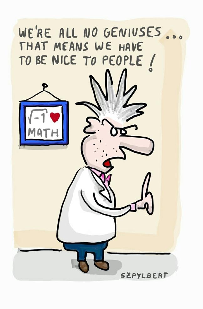 Szpylbert cartoon about not being a genius