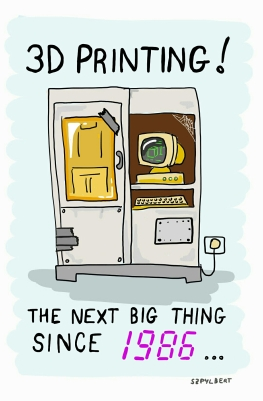 Szpylbert cartoon about when 3D Printing was invented