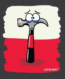 Szpylbert cartoon about Pink Floyd