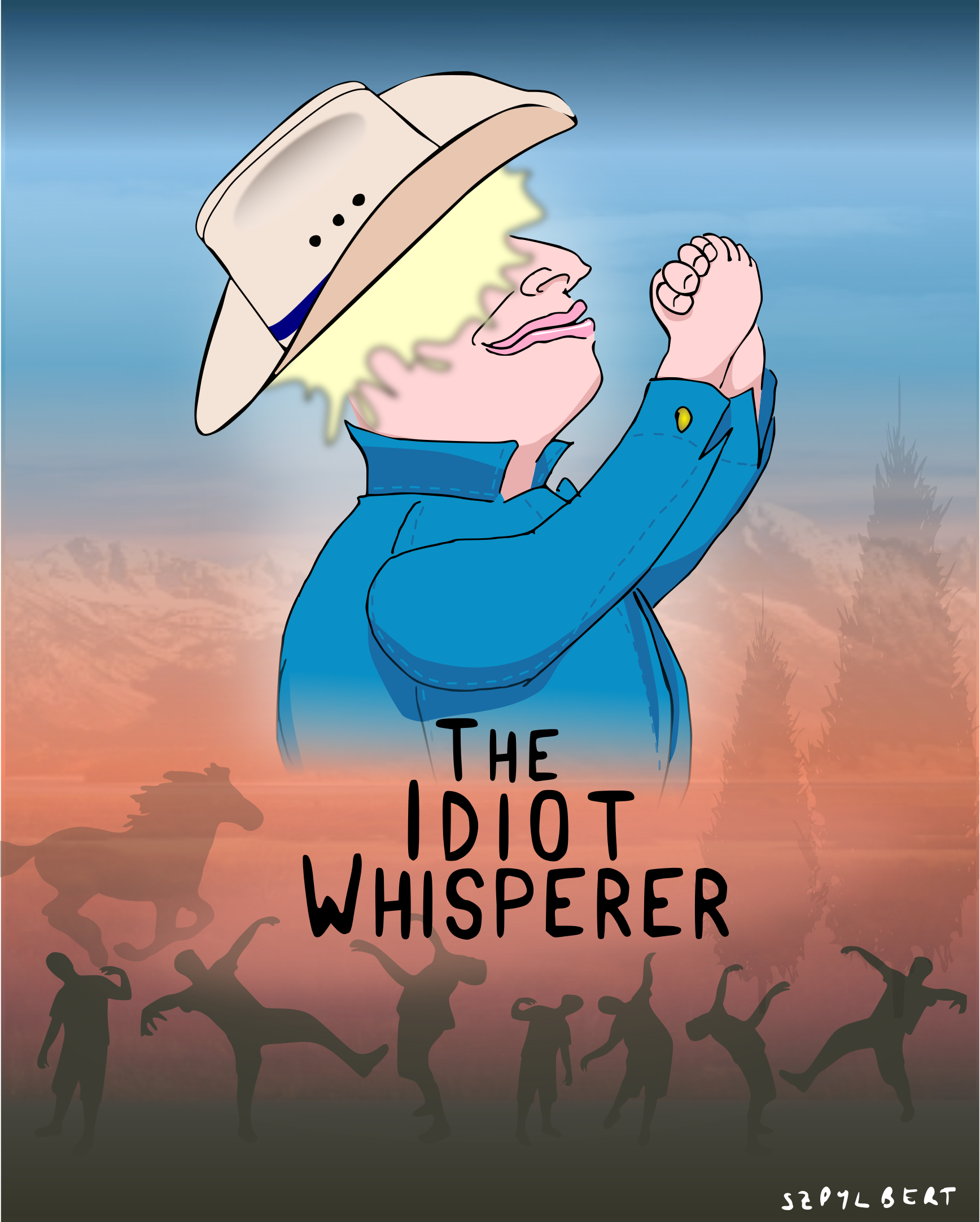 Cartoon of Boris as the idiot whisperer