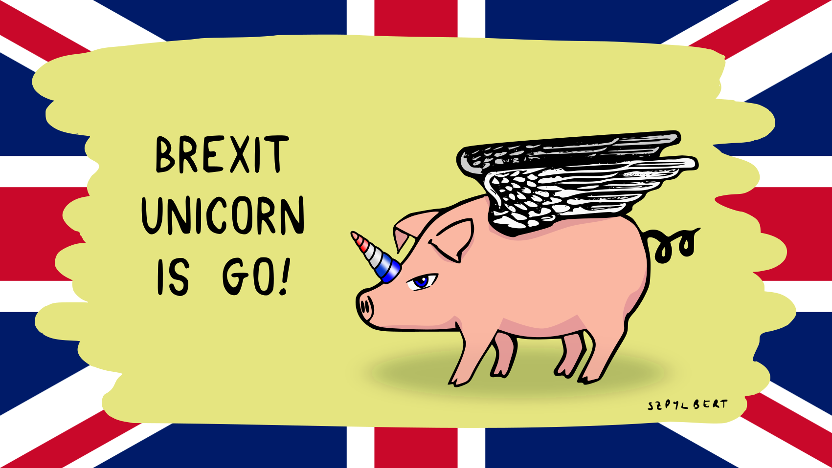 Brexit unicorn, Szpylbert (c) 2020
